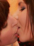 Two Sweet Emo Teens Kissing And Undressing Each Other! - Picture 7