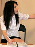 18yo Schoolgirl Kaira Prepares Her Homework Naked! - Picture 1