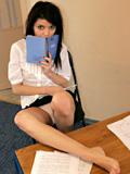 18yo Schoolgirl Kaira Prepares Her Homework Naked! - Picture 5