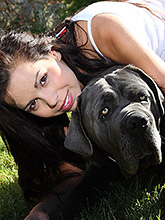 Young Beautiful Teen Plays With Her Pussy In The Yard - Picture 2