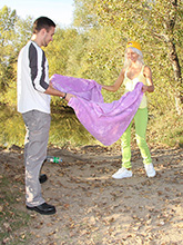 blond czech teen pinky june loves fucking hard outdoors PICTURE 2