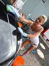 Shoking Photos Of Pinky June Washing Car Naked! - Picture 4