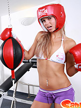 Nude Work-out With 18yo Teen Sabrina - Picture 1